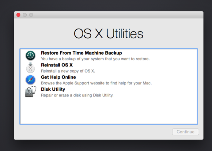 using Time Machine on a Mac
