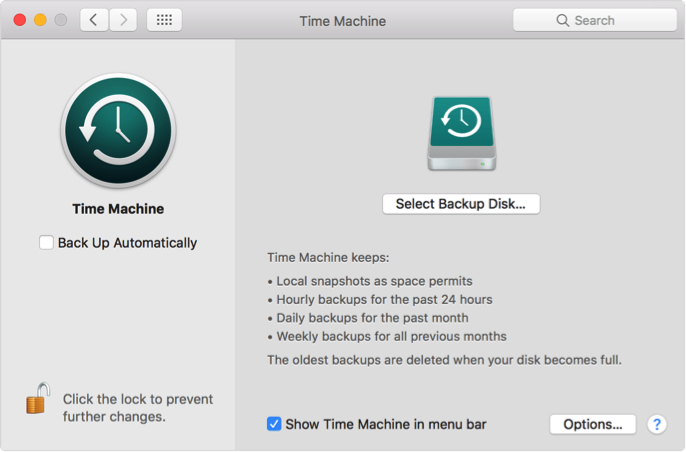 using Time Machine on Mac