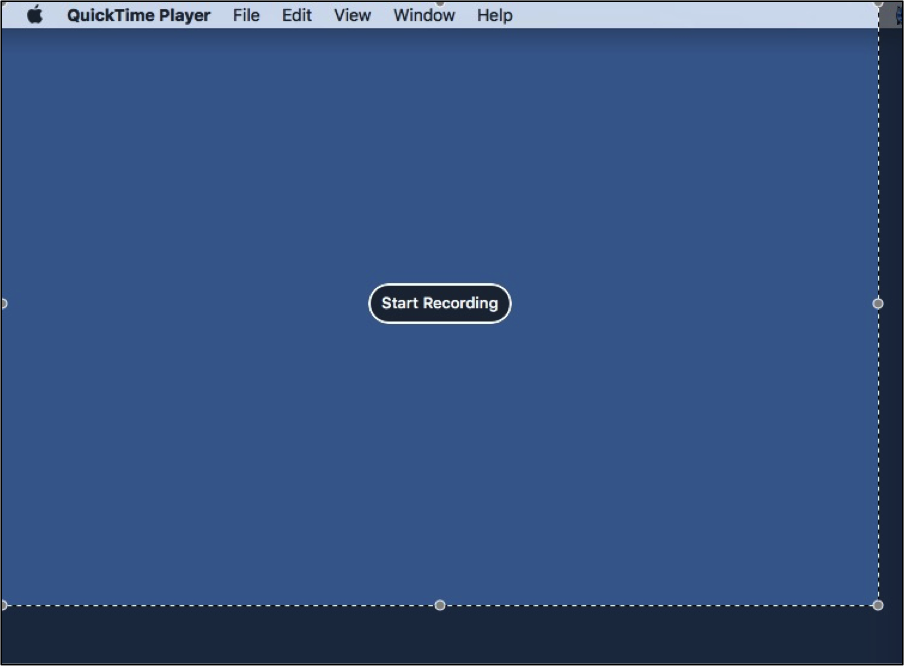 start recording Mac screen